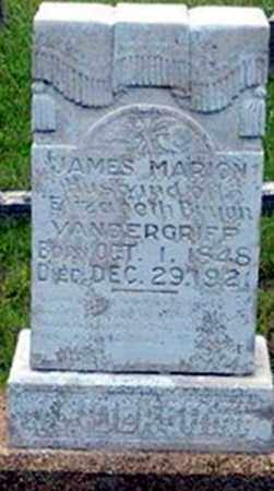 VANDERGRIFF, JAMES MARION - Randolph County, Arkansas | JAMES MARION VANDERGRIFF - Arkansas Gravestone Photos