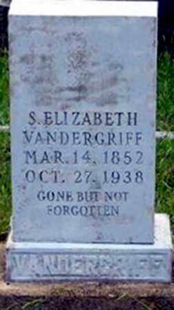 BRYAN VANDERGRIFF, SARAH ELIZABETH - Randolph County, Arkansas | SARAH ELIZABETH BRYAN VANDERGRIFF - Arkansas Gravestone Photos
