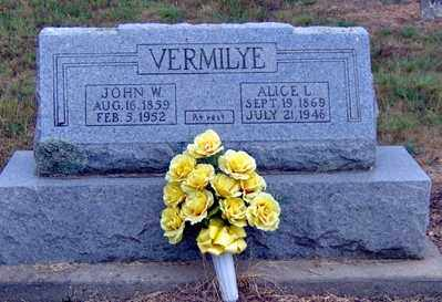 VERMILYE, ALICE L - Randolph County, Arkansas | ALICE L VERMILYE - Arkansas Gravestone Photos