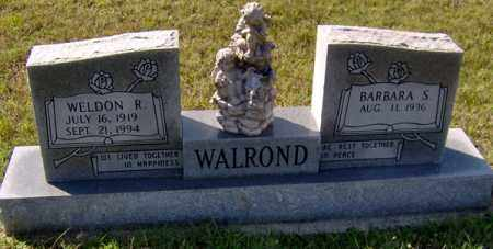 WALROND, WELDON R - Randolph County, Arkansas | WELDON R WALROND - Arkansas Gravestone Photos