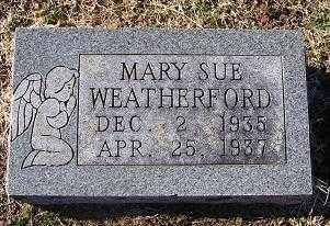 WEATHERFORD, MARY SUE - Randolph County, Arkansas | MARY SUE WEATHERFORD - Arkansas Gravestone Photos