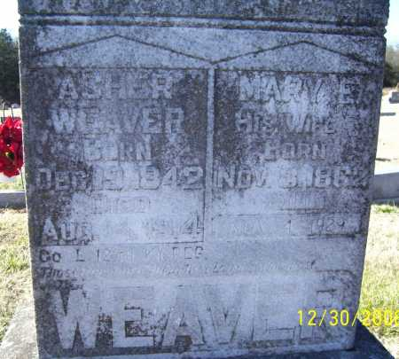 WEAVER (VETERAN UNION), ASHER - Randolph County, Arkansas | ASHER WEAVER (VETERAN UNION) - Arkansas Gravestone Photos