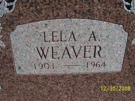 WEAVER, LELA A. - Randolph County, Arkansas | LELA A. WEAVER - Arkansas Gravestone Photos