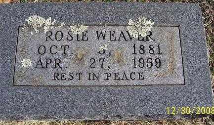 WEAVER, ROSIE - Randolph County, Arkansas | ROSIE WEAVER - Arkansas Gravestone Photos