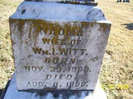 WITT, NAOMA - Randolph County, Arkansas | NAOMA WITT - Arkansas Gravestone Photos