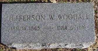 WOODALL, JEFFERSON W. - Randolph County, Arkansas | JEFFERSON W. WOODALL - Arkansas Gravestone Photos