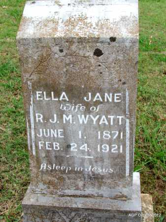 BRYAN WYATT, ELLA JANE - Randolph County, Arkansas | ELLA JANE BRYAN WYATT - Arkansas Gravestone Photos