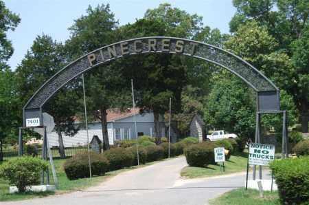 * PINECREST MEMORIAL PARK, ENTRANCE PHOTO AND DIRECTIONS - Saline County, Arkansas | ENTRANCE PHOTO AND DIRECTIONS * PINECREST MEMORIAL PARK - Arkansas Gravestone Photos