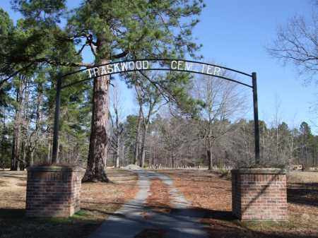 * TRASKWOOD CEMETERY, ENTRANCE PHOTO AND DIRECTIONS - Saline County, Arkansas | ENTRANCE PHOTO AND DIRECTIONS * TRASKWOOD CEMETERY - Arkansas Gravestone Photos