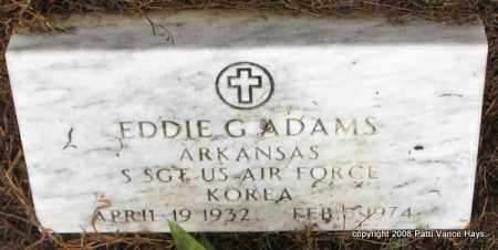 ADAMS (VETERAN KOR), EDDIE G - Saline County, Arkansas | EDDIE G ADAMS (VETERAN KOR) - Arkansas Gravestone Photos