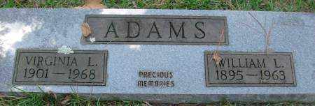 ADAMS, WILLIAM L - Saline County, Arkansas | WILLIAM L ADAMS - Arkansas Gravestone Photos