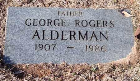 ALDERMAN, GEORGE ROGERS - Saline County, Arkansas | GEORGE ROGERS ALDERMAN - Arkansas Gravestone Photos