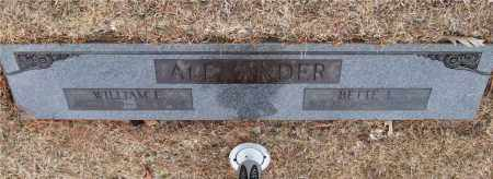 ALEXANDER, WILLIAM E. - Saline County, Arkansas | WILLIAM E. ALEXANDER - Arkansas Gravestone Photos