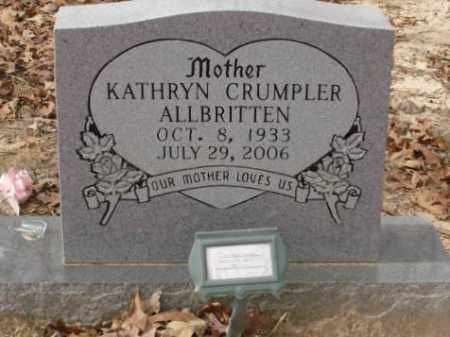 ALLBRITTEN, KATHRYN - Saline County, Arkansas | KATHRYN ALLBRITTEN - Arkansas Gravestone Photos