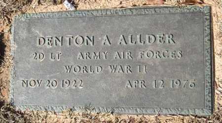 ALLDER (VETERAN WWII), DENTON A - Saline County, Arkansas | DENTON A ALLDER (VETERAN WWII) - Arkansas Gravestone Photos