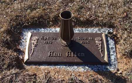 ALLEN, ANN - Saline County, Arkansas | ANN ALLEN - Arkansas Gravestone Photos