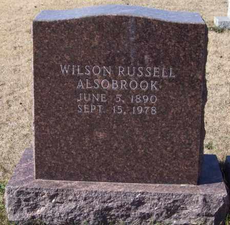 ALSOBROOK, WILSON RUSSELL - Saline County, Arkansas | WILSON RUSSELL ALSOBROOK - Arkansas Gravestone Photos