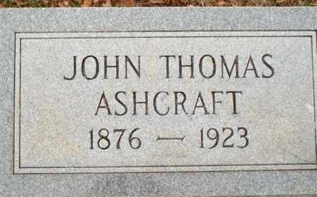 ASHCRAFT, JOHN THOMAS - Saline County, Arkansas | JOHN THOMAS ASHCRAFT - Arkansas Gravestone Photos
