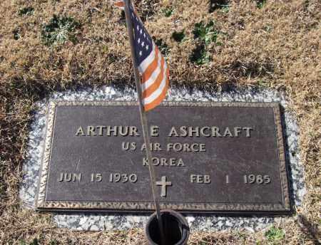 ASHCRAFT (VETERAN KOR), ARTHUR E - Saline County, Arkansas | ARTHUR E ASHCRAFT (VETERAN KOR) - Arkansas Gravestone Photos
