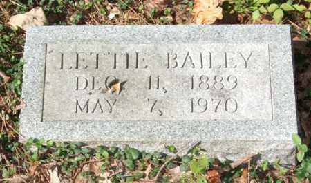 BAILEY, LETTIE - Saline County, Arkansas | LETTIE BAILEY - Arkansas Gravestone Photos