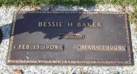 BAKER, BESSIE H. - Saline County, Arkansas | BESSIE H. BAKER - Arkansas Gravestone Photos