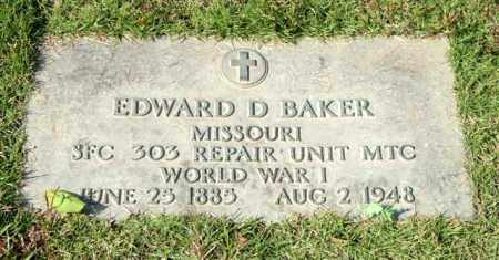 BAKER (VETERAN WWI), EDWARD D - Saline County, Arkansas | EDWARD D BAKER (VETERAN WWI) - Arkansas Gravestone Photos