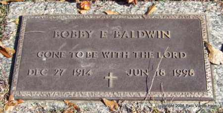 BALDWIN, BOBBY E. - Saline County, Arkansas | BOBBY E. BALDWIN - Arkansas Gravestone Photos