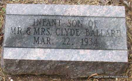 BALLARD, INFANT SON - Saline County, Arkansas | INFANT SON BALLARD - Arkansas Gravestone Photos