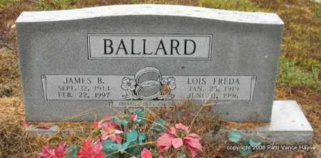 BALLARD, JAMES B. - Saline County, Arkansas | JAMES B. BALLARD - Arkansas Gravestone Photos