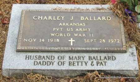 BALLARD (VETERAN WWII), CHARLEY J - Saline County, Arkansas | CHARLEY J BALLARD (VETERAN WWII) - Arkansas Gravestone Photos