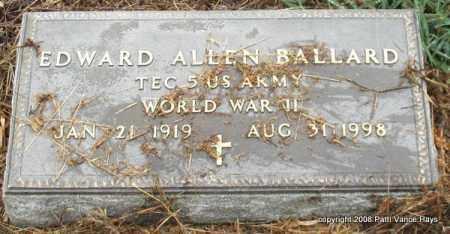 BALLARD (VETERAN WWII), EDWARD ALLEN - Saline County, Arkansas | EDWARD ALLEN BALLARD (VETERAN WWII) - Arkansas Gravestone Photos
