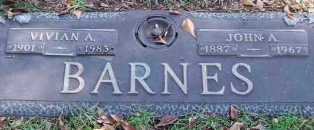 BARNES, JOHN A. - Saline County, Arkansas | JOHN A. BARNES - Arkansas Gravestone Photos