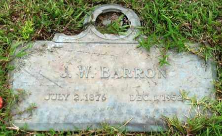 BARRON, J. W. - Saline County, Arkansas | J. W. BARRON - Arkansas Gravestone Photos