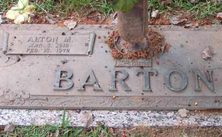 BARTON, ALTON M. - Saline County, Arkansas | ALTON M. BARTON - Arkansas Gravestone Photos