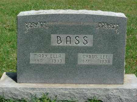 BASS, MARY ELLA - Saline County, Arkansas | MARY ELLA BASS - Arkansas Gravestone Photos