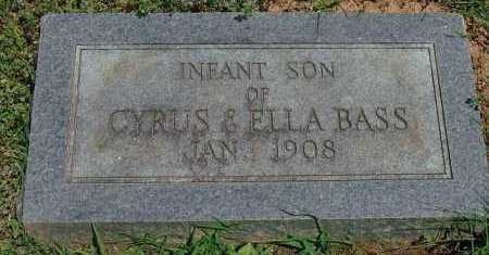 BASS, INFANT SON - Saline County, Arkansas | INFANT SON BASS - Arkansas Gravestone Photos