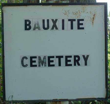 * BAUXITE CEMETERY, SIGN - Saline County, Arkansas | SIGN * BAUXITE CEMETERY - Arkansas Gravestone Photos