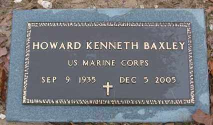 BAXLEY (VETERAN), HOWARD KENNETH - Saline County, Arkansas | HOWARD KENNETH BAXLEY (VETERAN) - Arkansas Gravestone Photos
