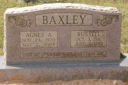 BAXLEY, AGNES A. - Saline County, Arkansas | AGNES A. BAXLEY - Arkansas Gravestone Photos