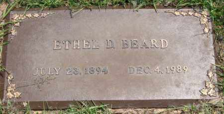 BEARD, ETHEL D. - Saline County, Arkansas | ETHEL D. BEARD - Arkansas Gravestone Photos