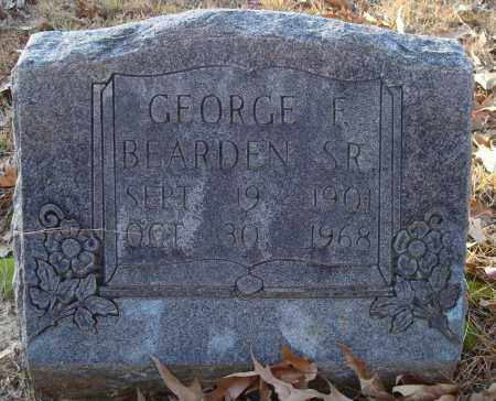 BEARDEN, SR, GEORGE F - Saline County, Arkansas | GEORGE F BEARDEN, SR - Arkansas Gravestone Photos