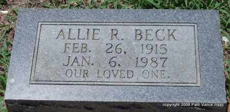 BECK, ALLIE R. - Saline County, Arkansas | ALLIE R. BECK - Arkansas Gravestone Photos