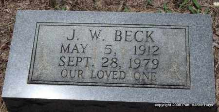 BECK, J. W. - Saline County, Arkansas | J. W. BECK - Arkansas Gravestone Photos