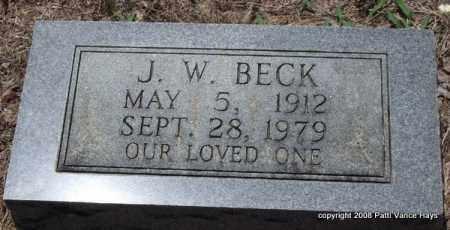 BECK, J. W. - Saline County, Arkansas | J. W. BECK - Arkansas Gravestone Photos