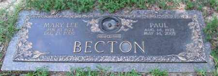 BECTON, MARY LEE - Saline County, Arkansas | MARY LEE BECTON - Arkansas Gravestone Photos