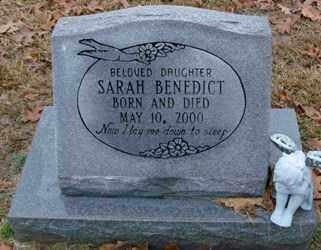 BENEDICT, SARAH - Saline County, Arkansas | SARAH BENEDICT - Arkansas Gravestone Photos