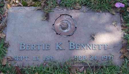 BENNETT, BERTIE K. - Saline County, Arkansas | BERTIE K. BENNETT - Arkansas Gravestone Photos