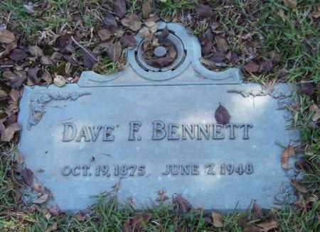 BENNETT, DAVE F. - Saline County, Arkansas | DAVE F. BENNETT - Arkansas Gravestone Photos