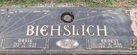 BIEHSLICH, ERNEST - Saline County, Arkansas | ERNEST BIEHSLICH - Arkansas Gravestone Photos