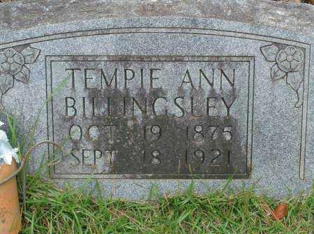 BILLINGSLEY, TEMPIE ANN - Saline County, Arkansas | TEMPIE ANN BILLINGSLEY - Arkansas Gravestone Photos
